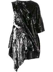 Marques Almeida Marques'almeida Sequin Embellished Dress Silver
