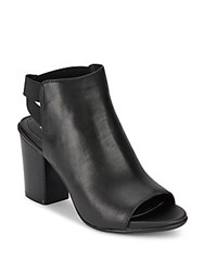 Kenneth Cole Reaction Kari On Open Toe Booties Black