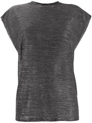 Iro Lightweight Metallic Top Black