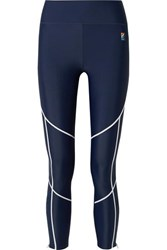 P.E Nation Quarter Force Embroidered Stretch Leggings Navy