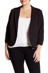 Amanda And Chelsea Ponte Jacket Plus Size Black