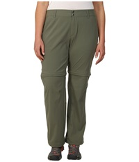 Columbia Plus Size Saturday Trail Ii Convertible Pant Cypress Women's Casual Pants Green