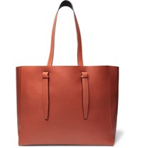 Valextra Leather Tote Bag Brick
