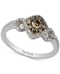 Le Vian Chocolatier Diamond Ring 5 8 Ct. T.W. In 14K White Gold
