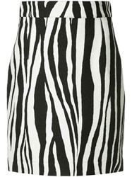 Ports 1961 Zebra Print Mini Skirt Black