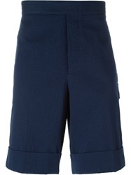 Moncler Gamme Bleu Logo Patch Shorts Blue