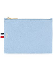 Thom Browne Zip Up Wallet Blue
