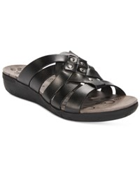 Bare Traps Jaydin Flat Sandals Women's Shoes Black