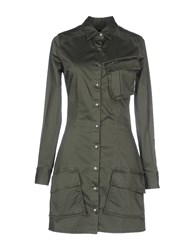 Met Dresses Short Dresses Women Military Green