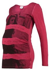 Mama Licious Mlrock Long Sleeved Top Rio Red Dark Red