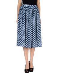 Alice San Diego 3 4 Length Skirts Sky Blue
