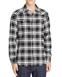 Jachs Ny Western Plaid Flannel Regular Fit Snap Front Shirt Black