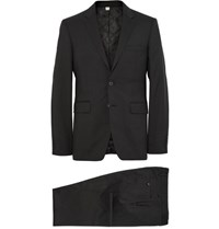 Burberry London Black Slim Fit Wool Suit Black