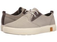 Timberland Amherst Plain Toe Canvas Oxford Medium Grey Canvas Men's Lace Up Casual Shoes Gray