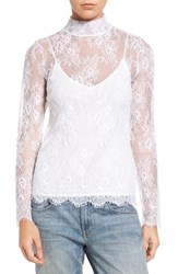 Chelsea 28 Women's Chelsea28 Sheer Lace Top White