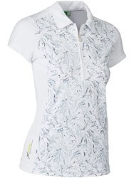 Daily Sports Marble Cap Sleeve Polo White