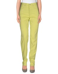 Versace Jeans Couture Trousers Casual Trousers Women Acid Green