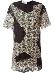 Cedric Charlier Eyelet Mini Dress Multicolour