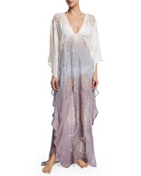Flora Bella Lima Long Sleeve Ombre Caftan Coverup Tide