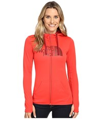 The North Face Fave Half Dome Full Zip Hoodie Melon Red Biking Red Women's Sweatshirt