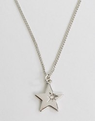 Pieces Hildby Star Necklace Silver