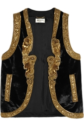 Saint Laurent Embellished Velvet Vest