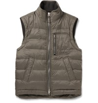 Tom Ford Quilted Shell Gilet Gray