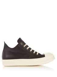 Rick Owens Low Top Leather Trainers Black Multi