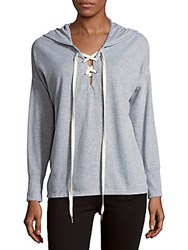 Project Social T Heathered Crisscross Front Hoodie Heather Grey