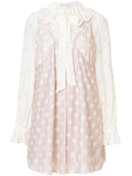 J.W.Anderson Jw Anderson Polka Dot Dress Nude And Neutrals