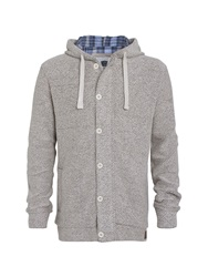 Weird Fish Hooded Macaroni Jacket Light Grey