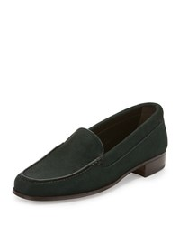 Gravati Calf Hair Venetian Loafer Dark Green