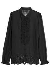 The Kooples Blouse With Broderie Anglaise Black
