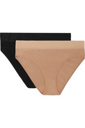 Baserange Net Sustain Bell Set Of Two Stretch Bamboo Briefs Sand