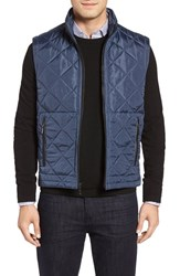 Bugatchi Men's Uomo Hooded Quilted Vest Teal