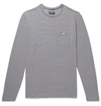 Todd Snyder Striped Cotton Jersey T Shirt Navy
