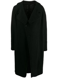 Julius Off Centre Buttoned Coat Black