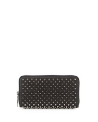 Christian Louboutin Panettone Spiked Zip Wallet Women's Black