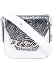 Thomas Wylde Snakeskin Detail Bag White