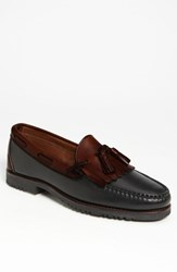 Men's Allen Edmonds 'Nashua' Tassel Loafer Black Brown