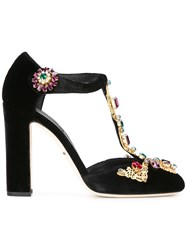 Dolce And Gabbana Vally Mary Jane Pumps Black