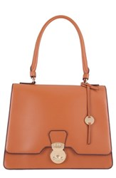 Lodis Rodeo Under Lock And Key Justina Rfid Leather Satchel Brown Toffee