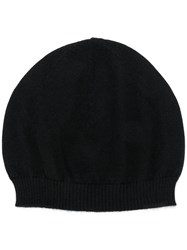 Rick Owens Cashmere Knitted Beanie Black