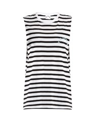 The Upside Lucky Cotton Performance Tank Top Black White