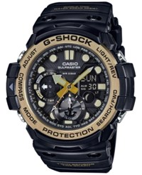 G Shock Men's Analog Digital Gulfmaster Vintage Gold Black Resin Strap Watch 51X53mm Gn1000gb 1A