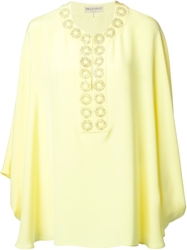 Emilio Pucci Embellished Neck Tunic Top Yellow And Orange