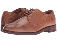 Polo Ralph Lauren Moseley Tan Burnished Leather Men's Lace Up Wing Tip Shoes