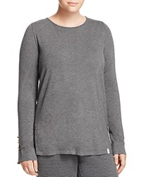 Marina Rinaldi Vanga Button Detail Tee Dark Gray