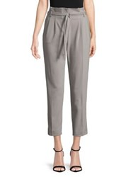 Ivanka Trump Pleated Ankle Pants Stone