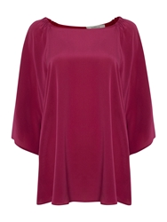 Marella Round Neck 3 4 Sleeve Top Purple